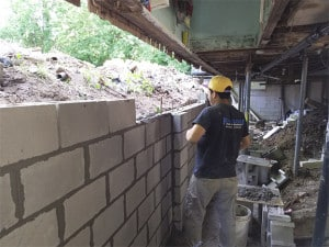 Kansas City Basement Wall Rebuilds