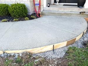 concrete sidewalk installation kansas city